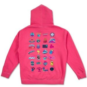 NWT PINK DOLPHIN LEGENDARY ARCHIVES HOODIE PINK